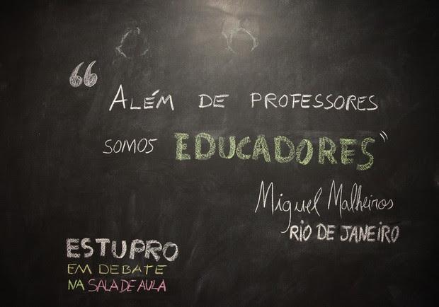Professor defende papel na formação integral dos alunos (Foto: Ardilhes Moreira/G1)