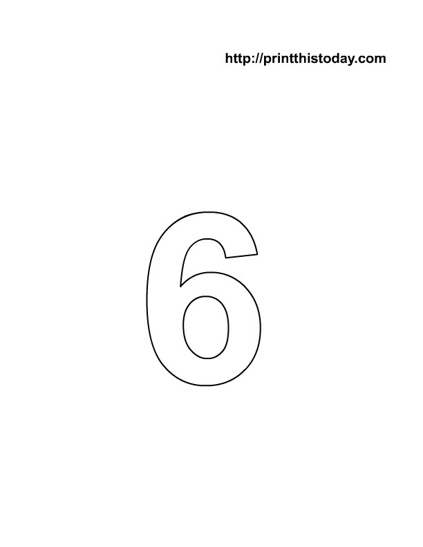 Printable Number 6 - Scalien