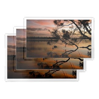 Shadow Sunset 1 Rectangle Serving Trays