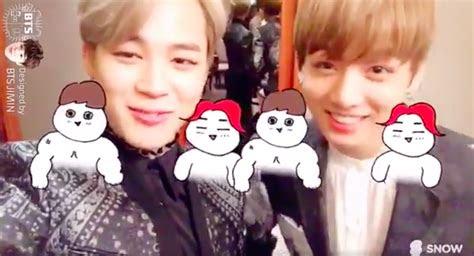 btss jimin  jungkook design cute selfie filters