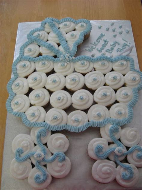 Baby Shower Baby Carriage Cupcake Cake Pictures, Photos