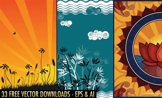 33 Free Vector Floral Designs And Backgrounds Download High