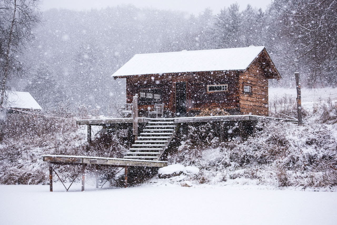 First snow in NW Vermont Nathanael Asaro / @nathanaelasaro