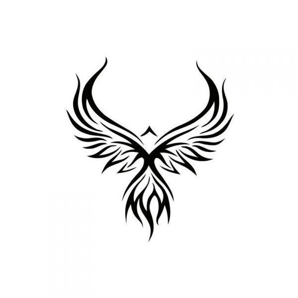 Tribal Phoenix Tattoo Design