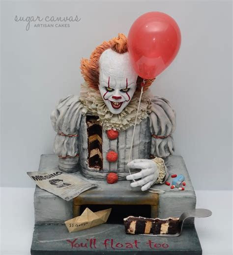 Pennywise the dancing clown cake!   cake by Sugar Canvas