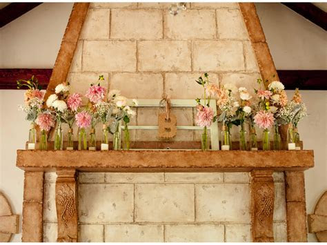 Maquel   Taylor?s Blush Cream Mint Wedding Flowers at