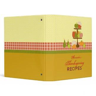 Thanksgiving Recipe Binder binder