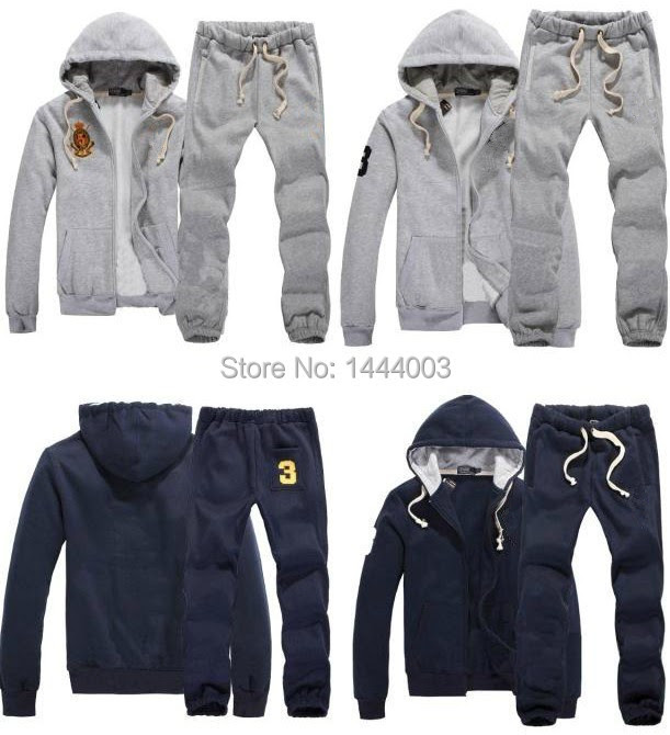 tracksuits hoodie men's full zip polo sweat suits fashion