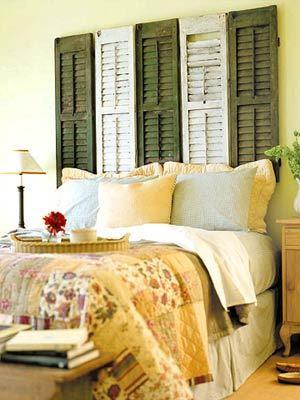 cabecera cama porticon madera reciclaje