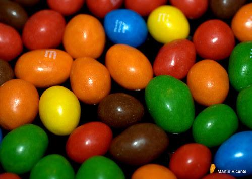 chocolatinas de colores