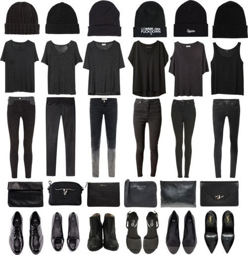 All Black Errything. Loose Tees. Skinny Jeans. Awesome shoes. Source: http://obliteratedheart.tumblr.com/post/44581769123