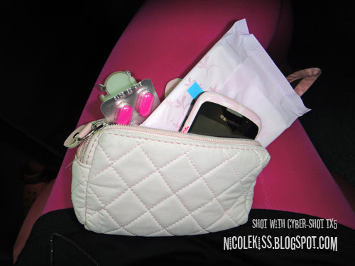 pink pouch phone and pad