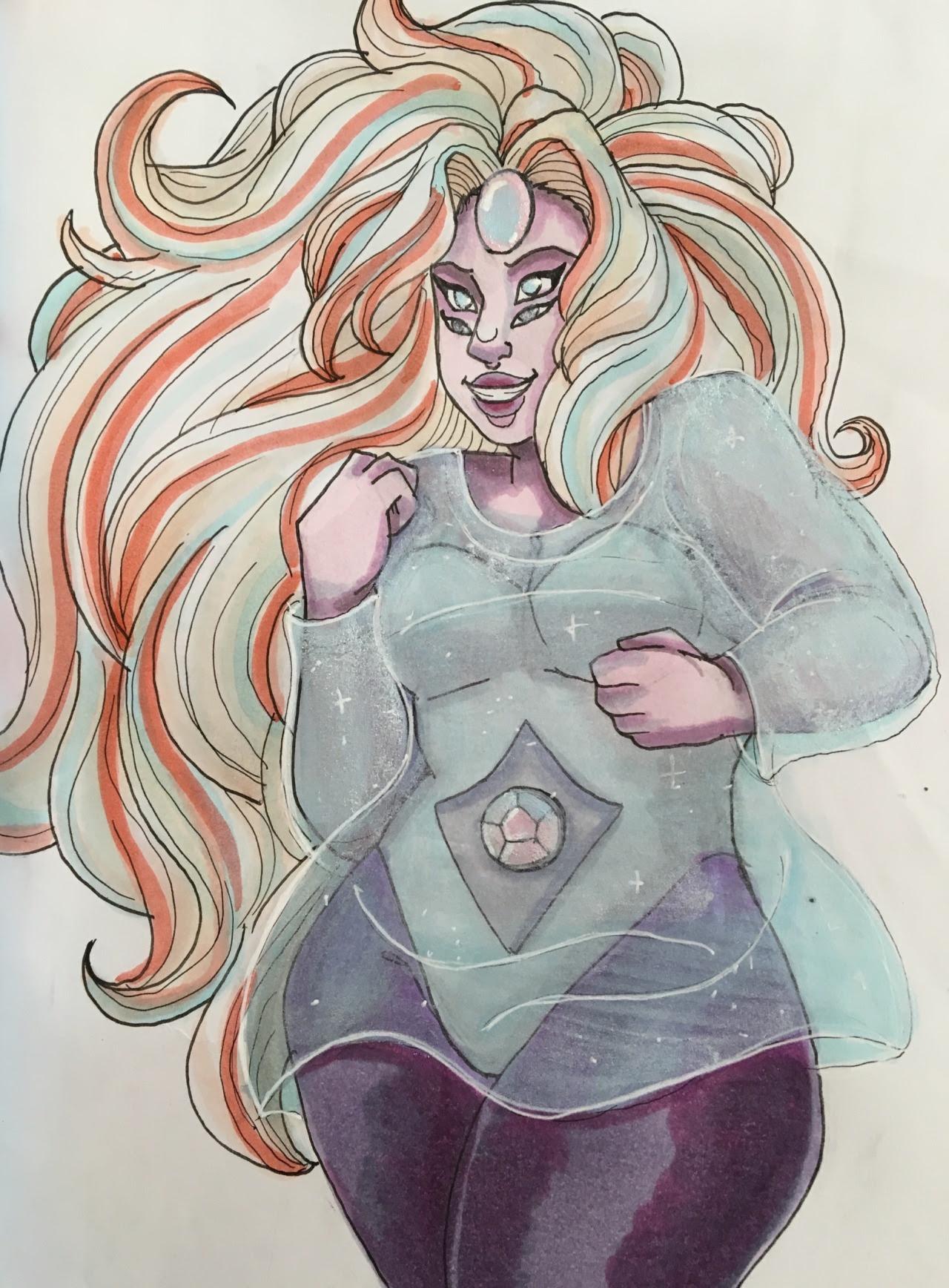 a gay quartz from my sketchbook