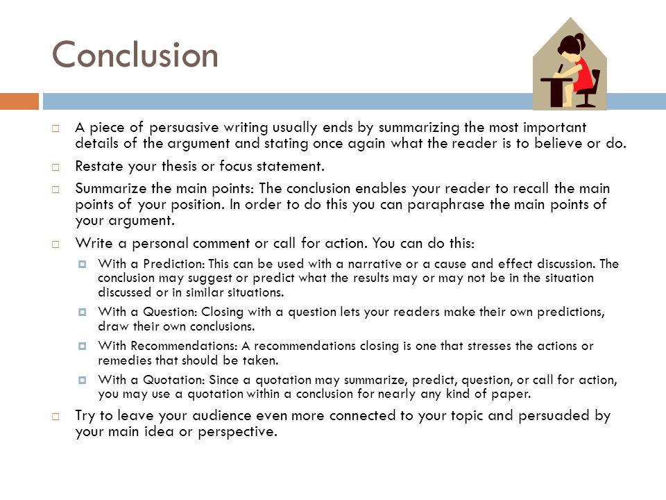 how to write a conclusion for a persuasive essay know