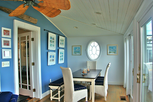 Beach House - tropical - dining room - boston - by Janet Shea