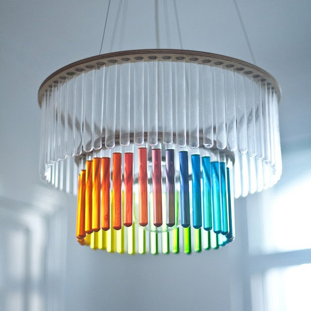 Test Tube Chandeliers by Pani Jurek  lighting