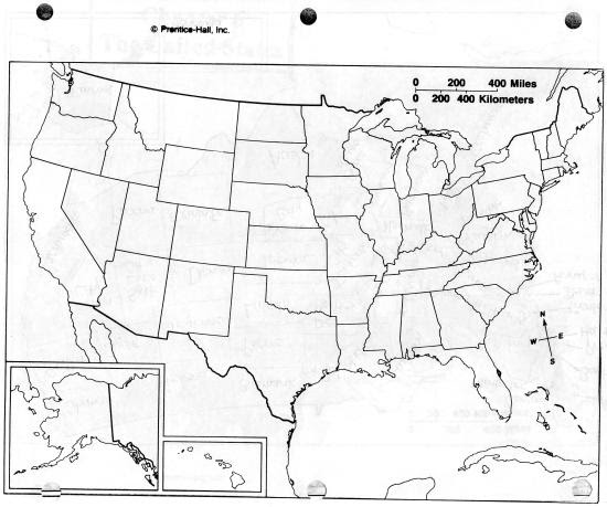 Us States Map Worksheet