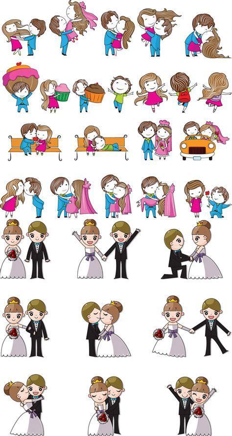 Cartoon wedding design elements vector   Vector Graphics Blog