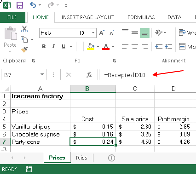 Excel Functions button