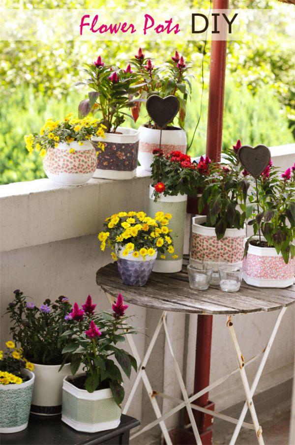 DIY flowerpot makeover
