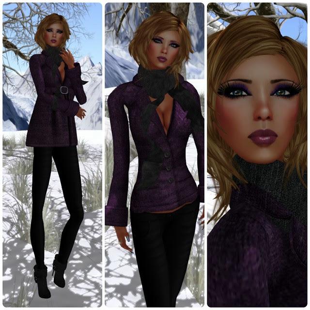 -X- After Hours Coat & Legging Purple