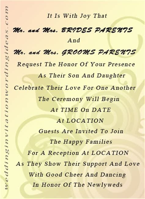 Proper Wedding Invitation Wording Tips