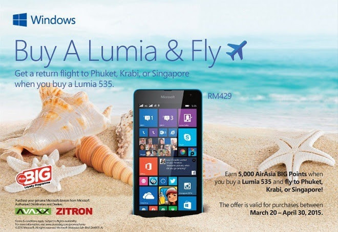 Buy a Lumia and get a free plane ticket