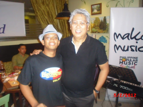Maestro Ryan Cayabyab and Me at PhilPOP Bloggers Night Event