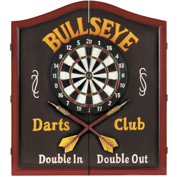 Bullseye Wooden Dartboard Cabinet by R.A.M. Game Room | Game Room ...