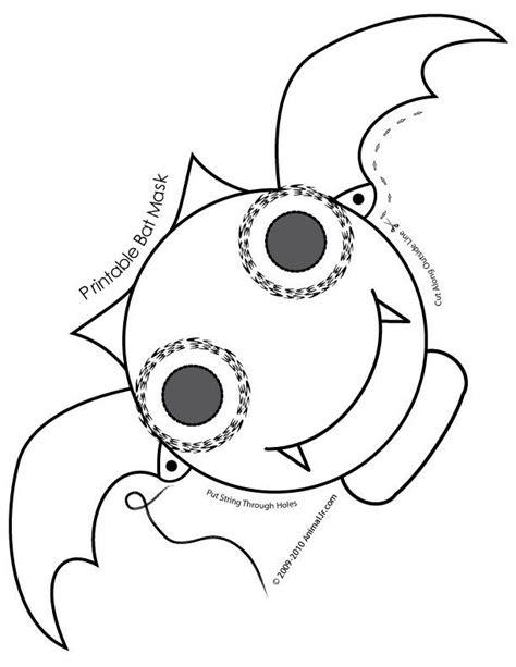 fantasy jr bat mask coloring page halloween masks