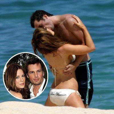hollywood actress Kate Beckinsale kissing pic
