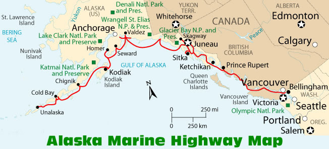 Alaska Marine Highway Map World Map 07