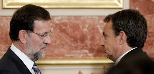 Zapatero y Rajoy en el Congreso