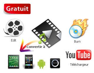 convertisseur MPEG, AVI, FLV, YouTube, MP4