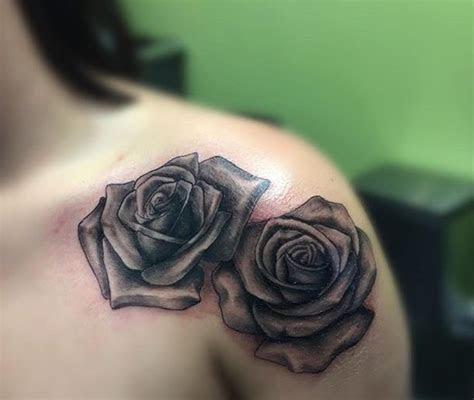 shoulder rose tattoo ideas