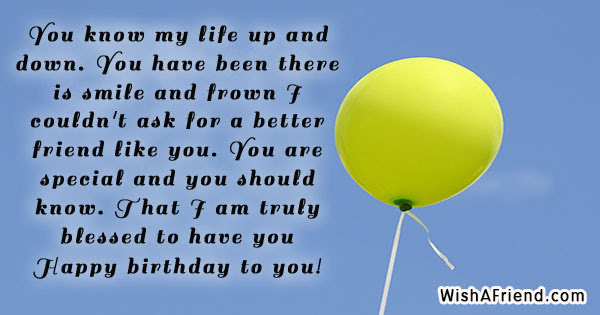 You Know My Life Up And Best Friend Birthday Quote