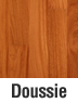 Muebles de madera en doussie
