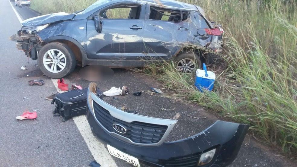 Acidente aconteceu na TO-080 (Foto: PM/Divulgação)