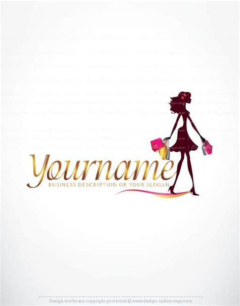 woman shopping logo design  business cards