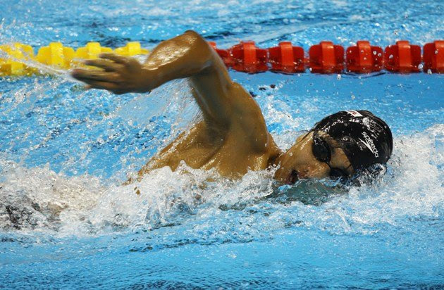 Teo Zhen Ren at the 14th FINA World Championships on July 26, 2011 in China (Getty Images)