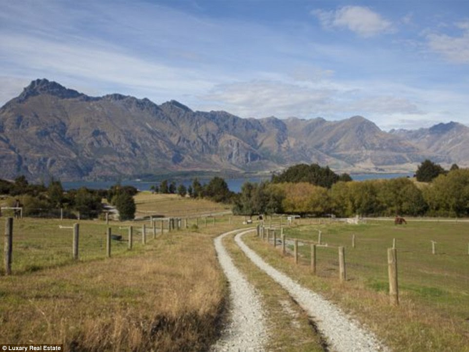 Wide open spaces: New Zealand is about the size of the UK, but has a population of just 4.4million - so it means there is plenty of land to go around