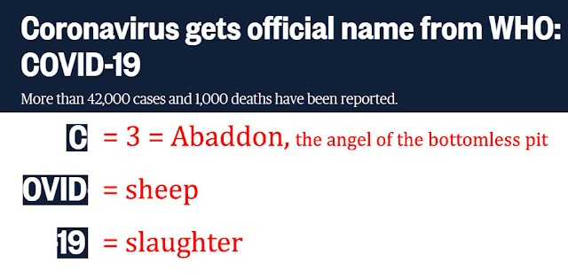 COVID-19 Official Name of Coronavirus Means: Angel of the Bottomless Pit - Sheep - Slaughter (Video)