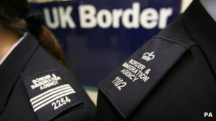 Immigration officers pictured wearing brand new uniforms at Gatwick Airport's border control