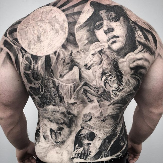 110 Back Tattoo Designs For Men Women Designs Meanings 2019