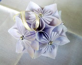 Kusudama Star - white ogreat for wedding or birthday decorationrigami hanging ornament. zł60.00, via Etsy.