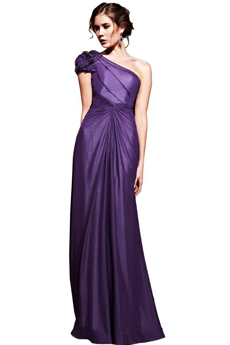 Cheap long purple evening dresses