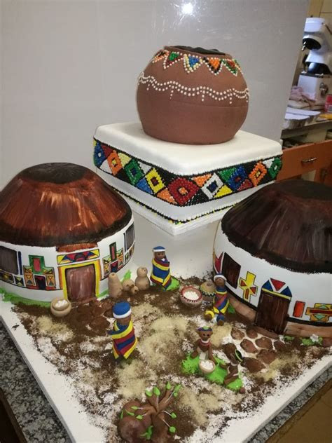 Ndebele wedding cake   Sugar Creations by Celestial Create