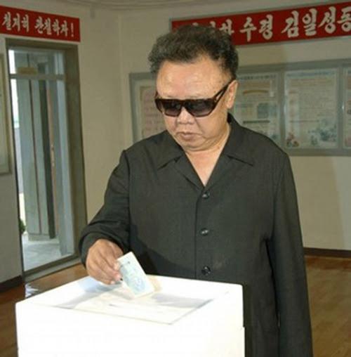looking at a ballot