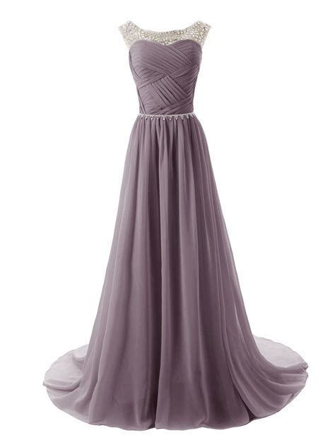 Dressystar Beaded Straps Bridesmaid Prom Dresses with