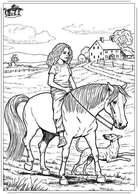 malvorlagen kostenlos pferd mit reiter  kostenlose